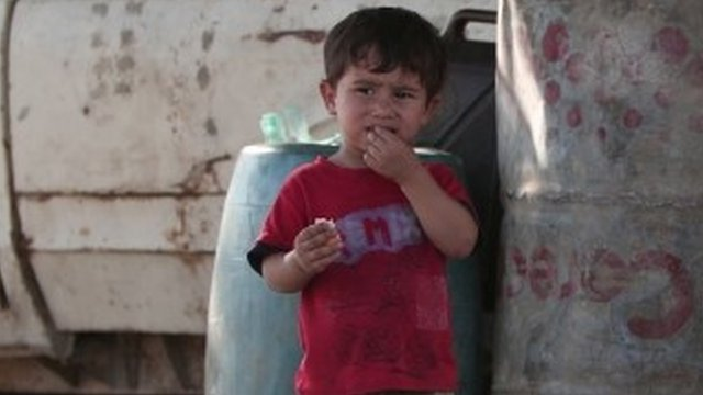 Small child in Aleppo