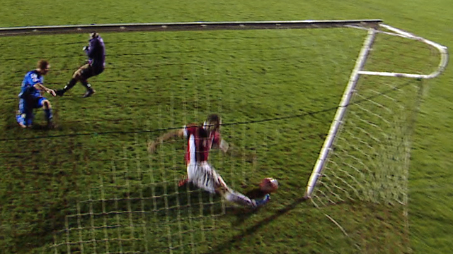 Salford's Howson makes superb goalline clearance