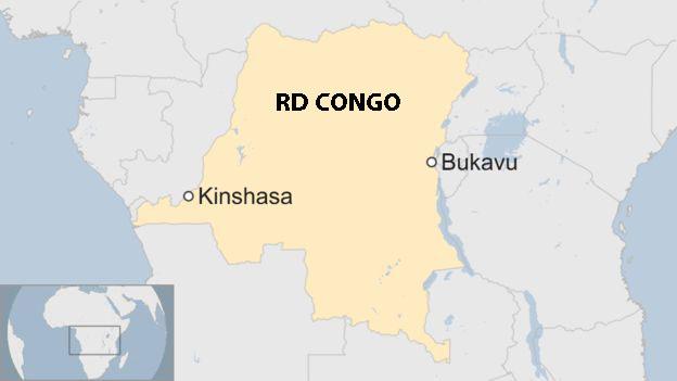 Mapa de RD Congo
