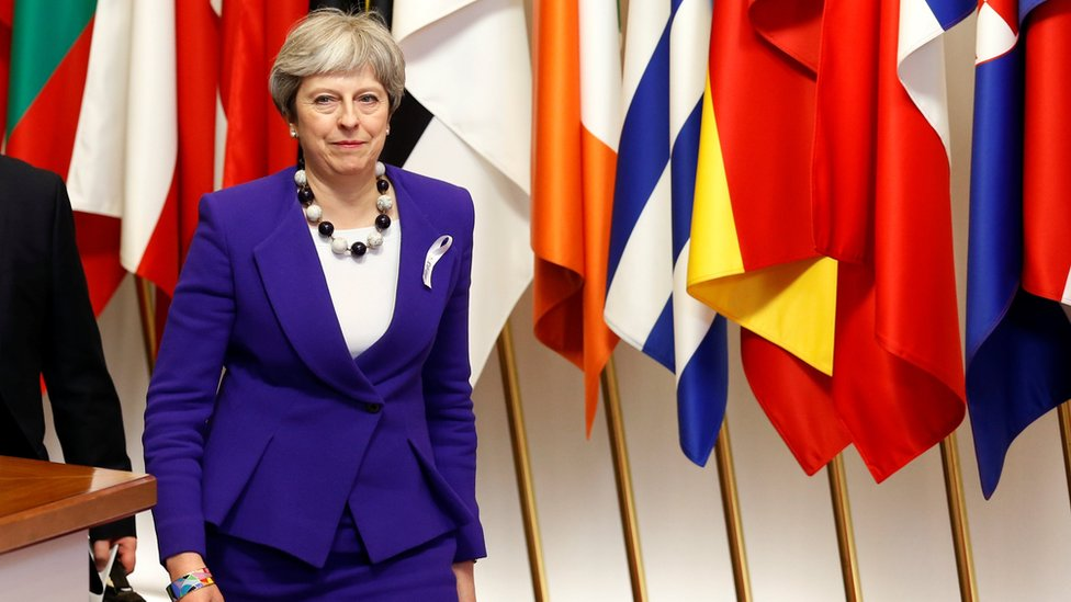 Theresa May at EU leaders summit