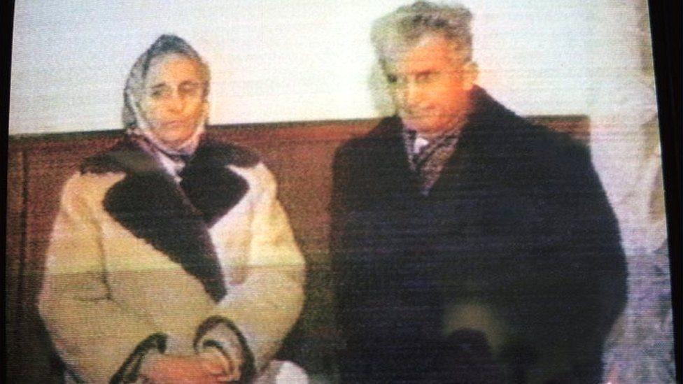 شاوشيسكو وزوجته إلينا