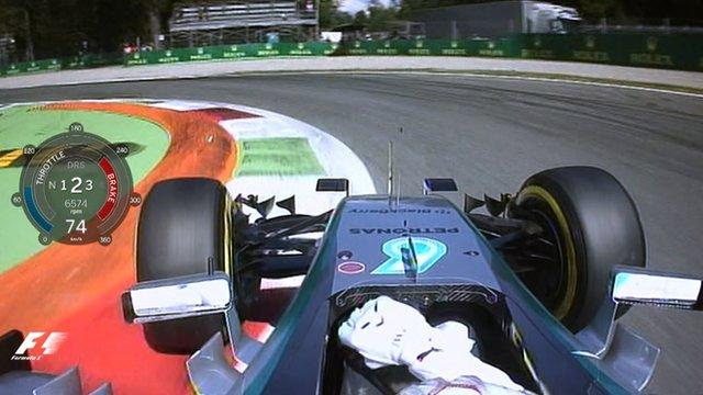 Italian GP: Lewis Hamilton's Monza pole lap