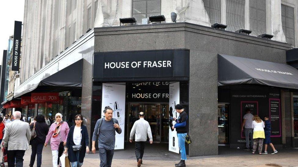 Greed blamed for House of Fraser closures