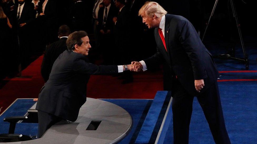 Chris Wallace and Donald Trump