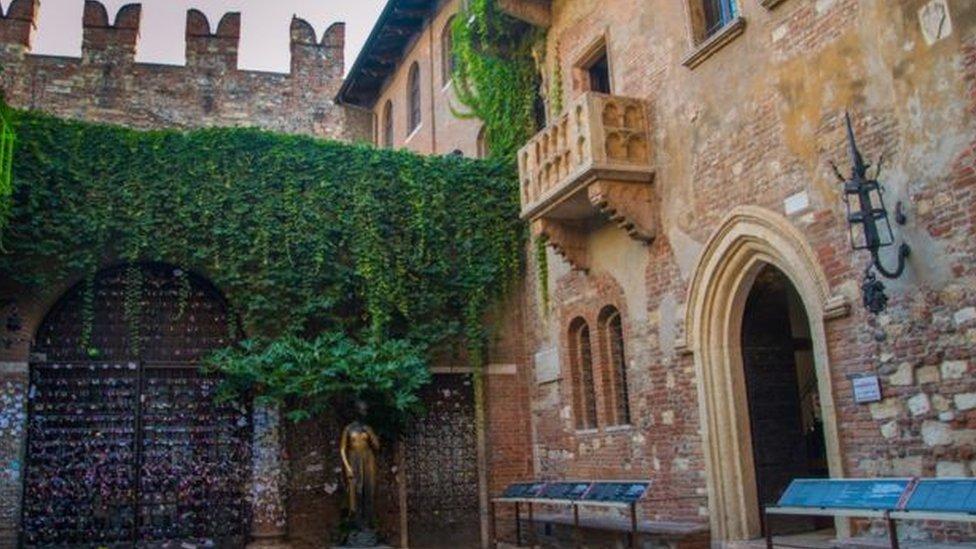منزل جولييت في فيرونا إيطاليا