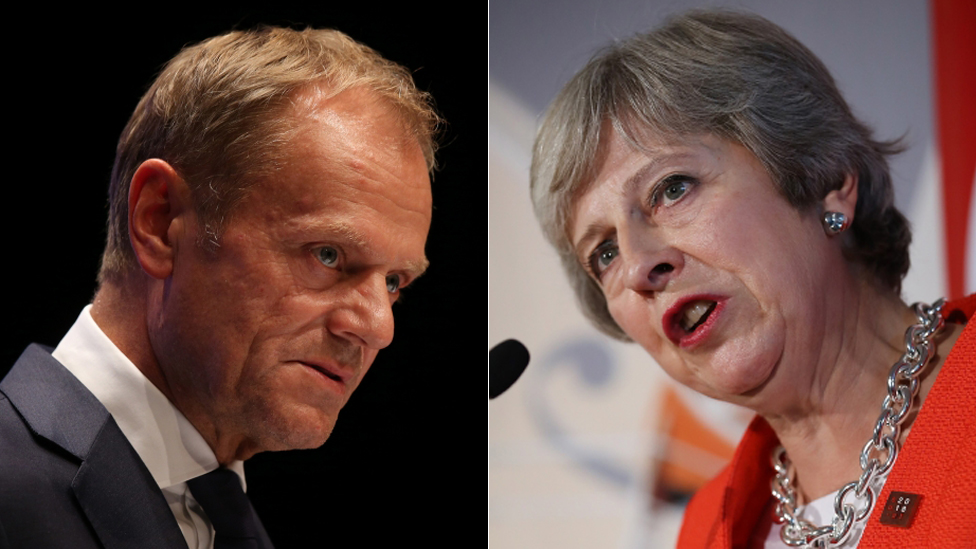 Donald Tusk: Theresa May's Brexit trade plan won't work