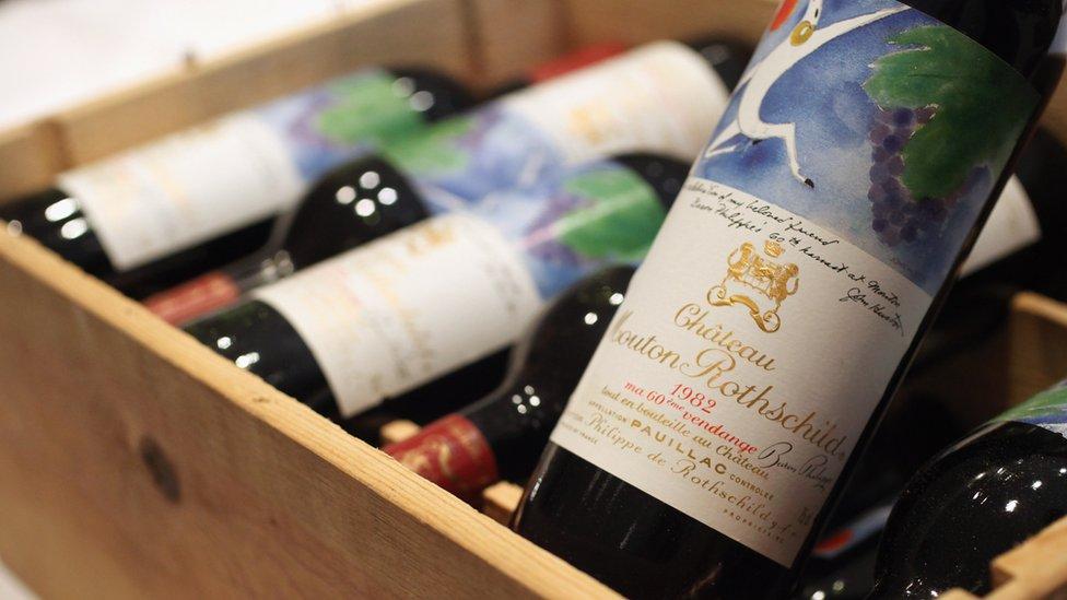 Crate of fine wine