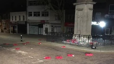 Man jailed for throwing Swindon poppy wreaths in road