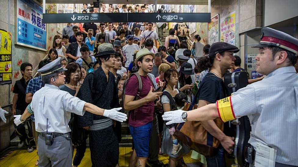 Crowded place in Japan