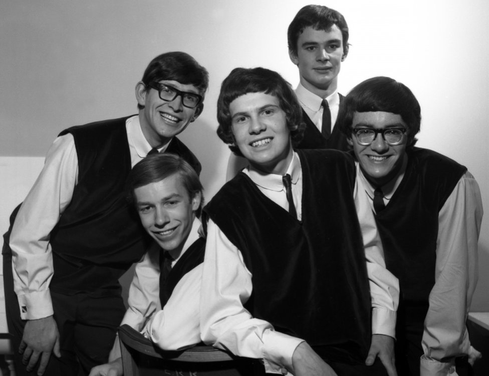 The Zombies backstage at Top of the Pops in August 1964