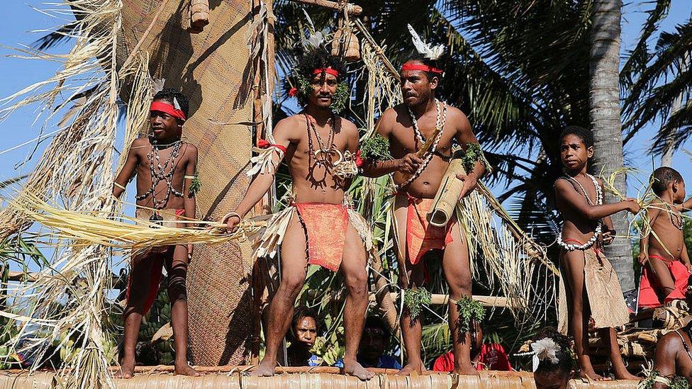 Tribus en Papúa Nueva Guinea