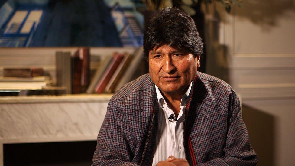 Evo Morales en entrevista con BBC Mundo.