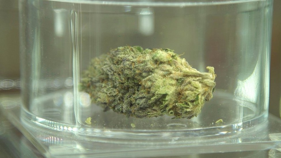 A weed product on display at Jayne and Vic Grossom's cannabis dispensary