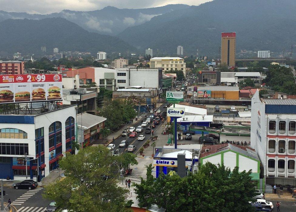 Vista general de San Pedro Sula