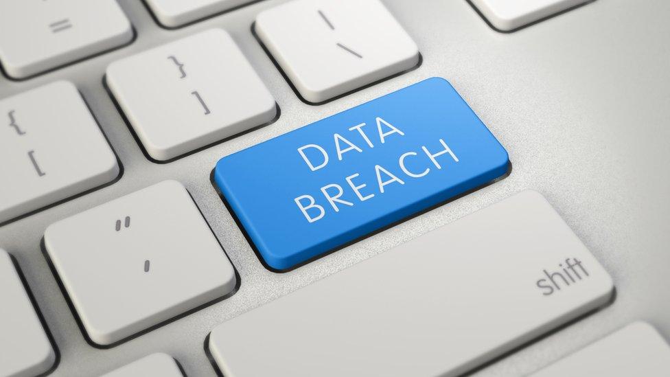 Data breach image of keyboard