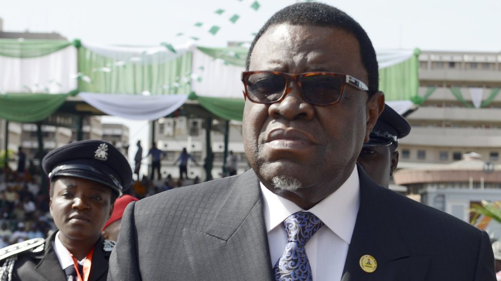 Namibian President Hage Geingob