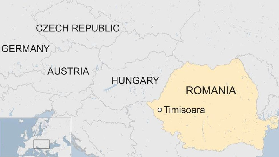 Romania/Central Europe map