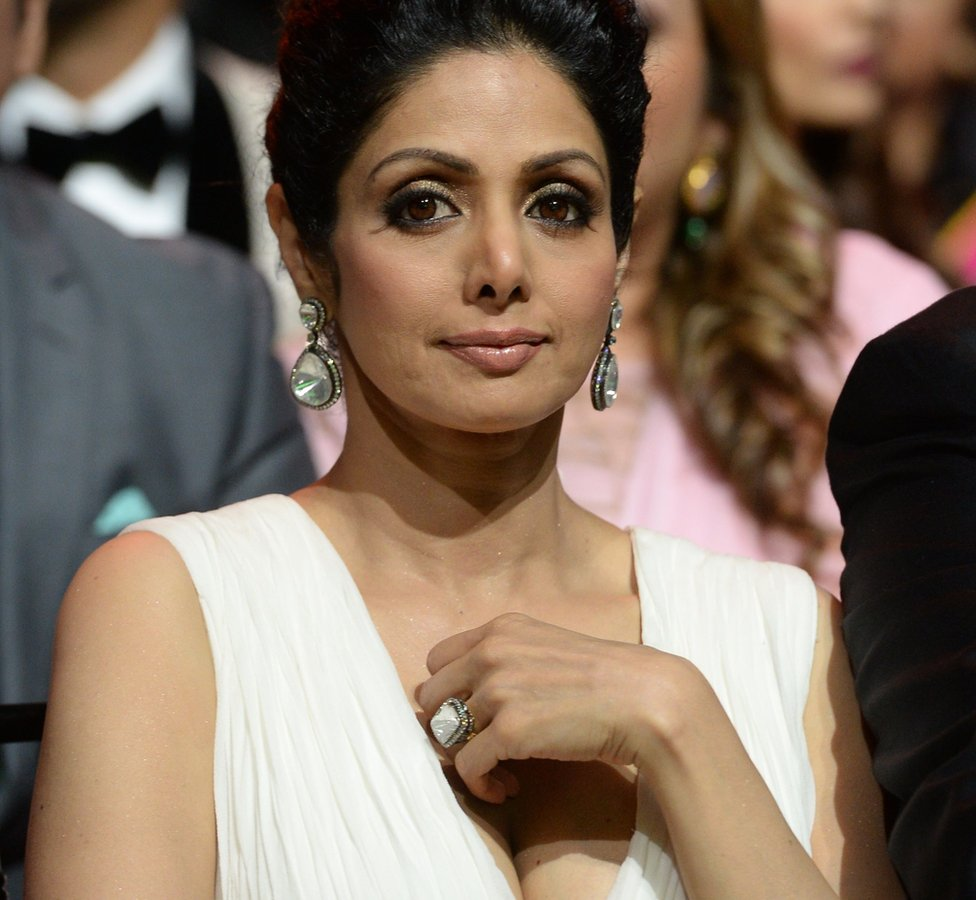 Bollywood actress Sridevi Kapoor at the 15th International Indian Film Academy (IIFA) Awards in Tampa, Florida, 25 April 2014