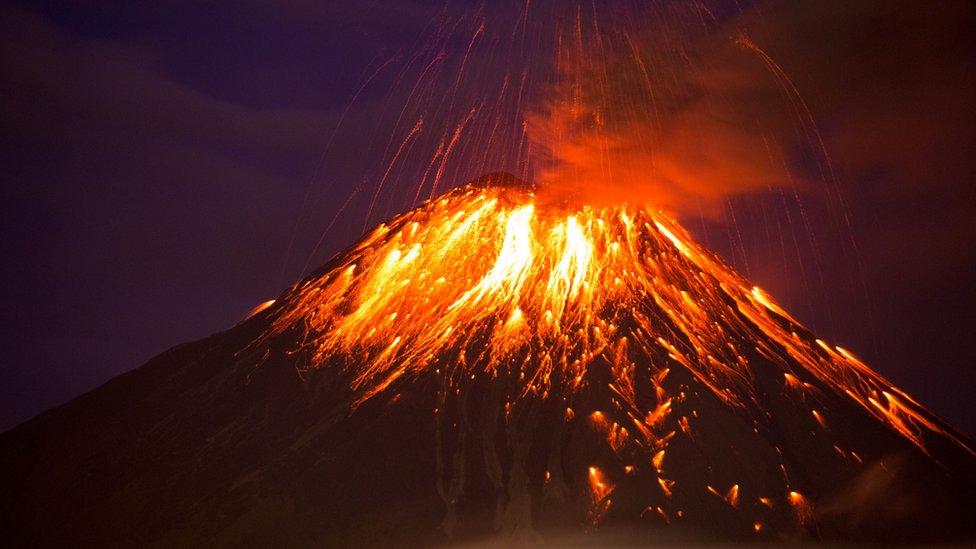 Ekvador'daki Tungurahua Yanardağı 2016'da patlamıştı.