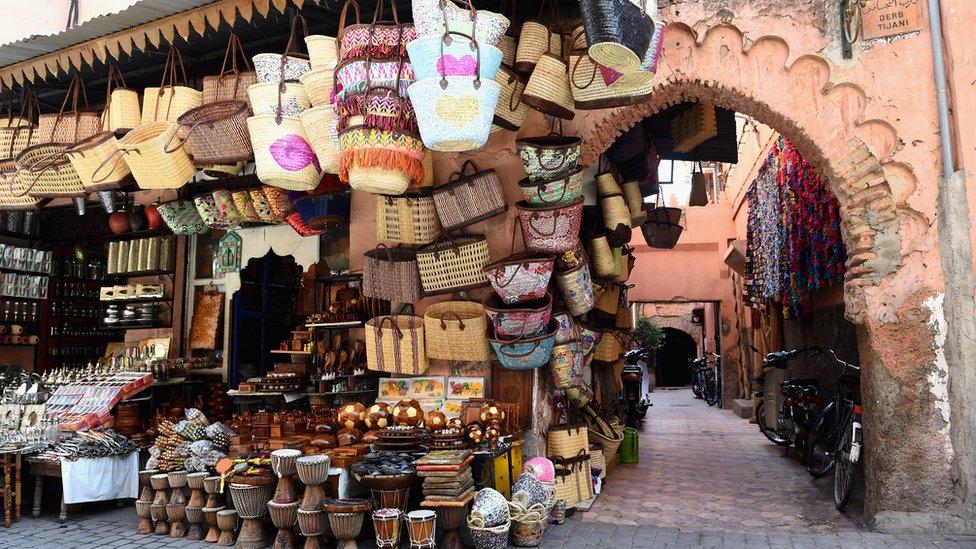 A market in Marrakech
