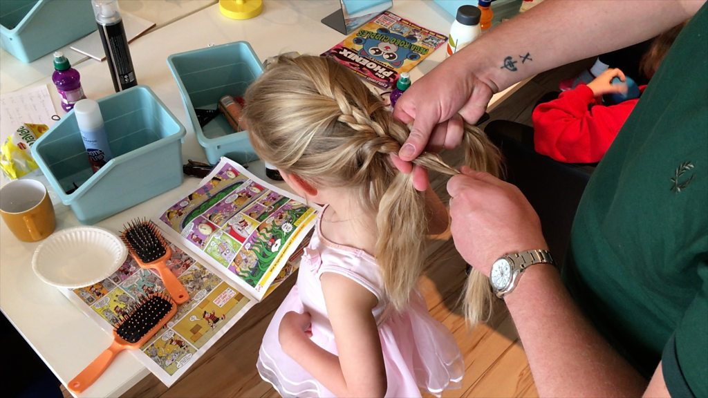 Workshop teaches dads to style their daughters' hair