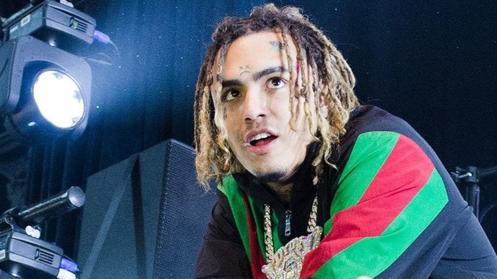 Rapper Lil Pump criticised for racist gesture