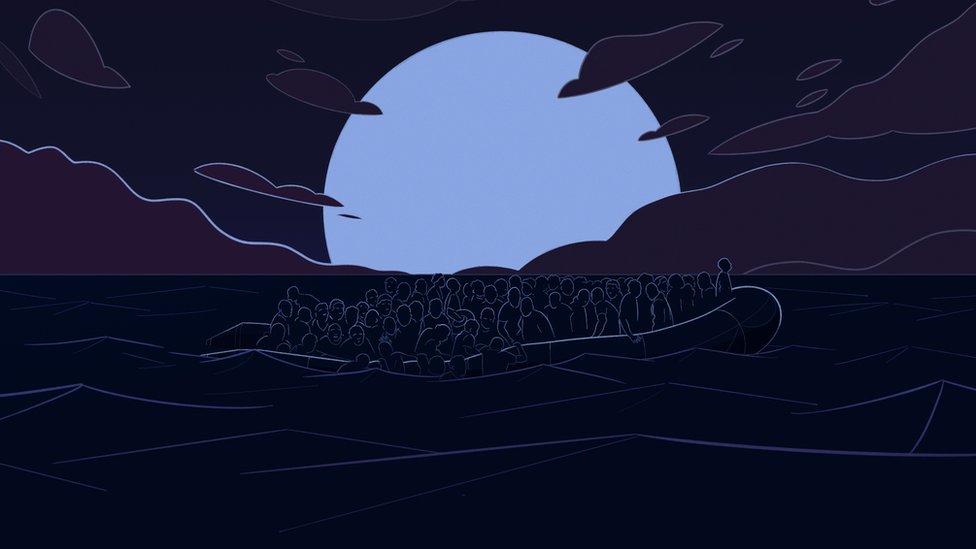 Ilustración del bote.