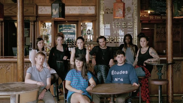 young people in a pub