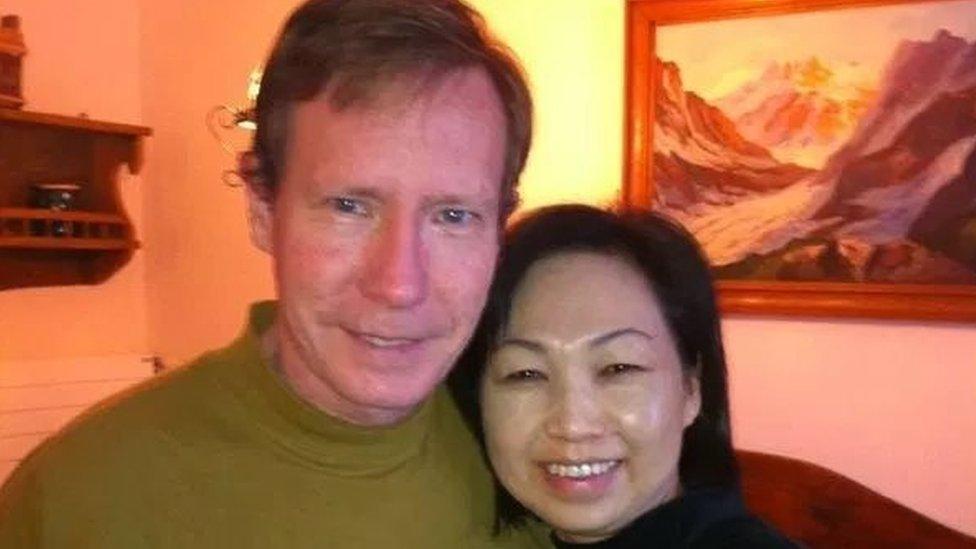 Peter Chadwick y su mujer Qee Choo