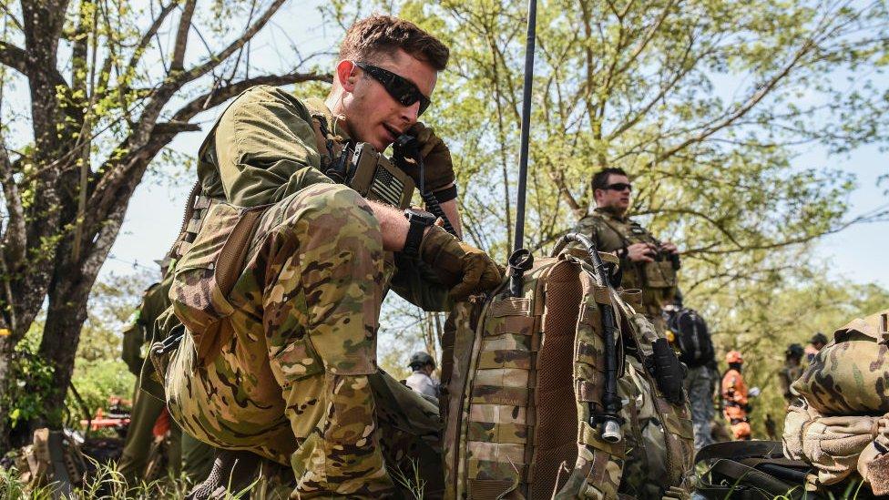 Soldado estadounidense en Colombia