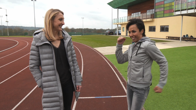 Paula Radcliffe and Dame Kelly Holmes