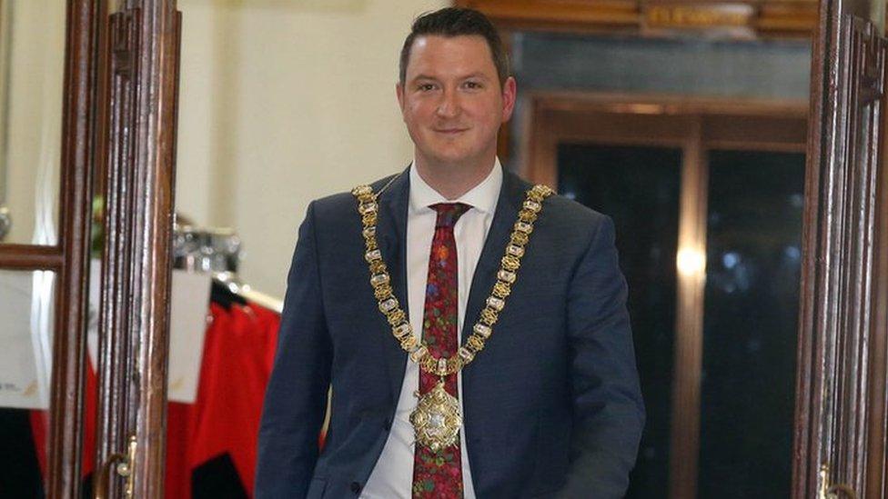 John Finucane denies 'political ploy' as he becomes Belfast lord mayor