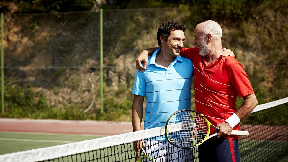 Jugadores de tennis