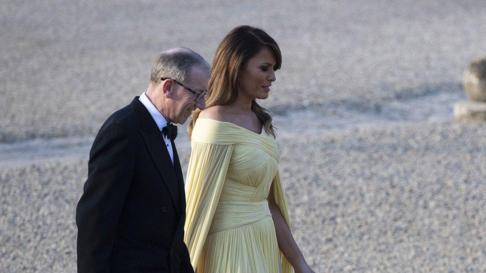 Philip May alongside Melania Trump