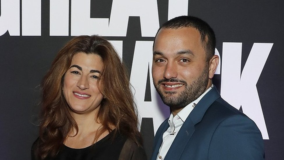 Jehane Noujaim (left) and Karim Amer