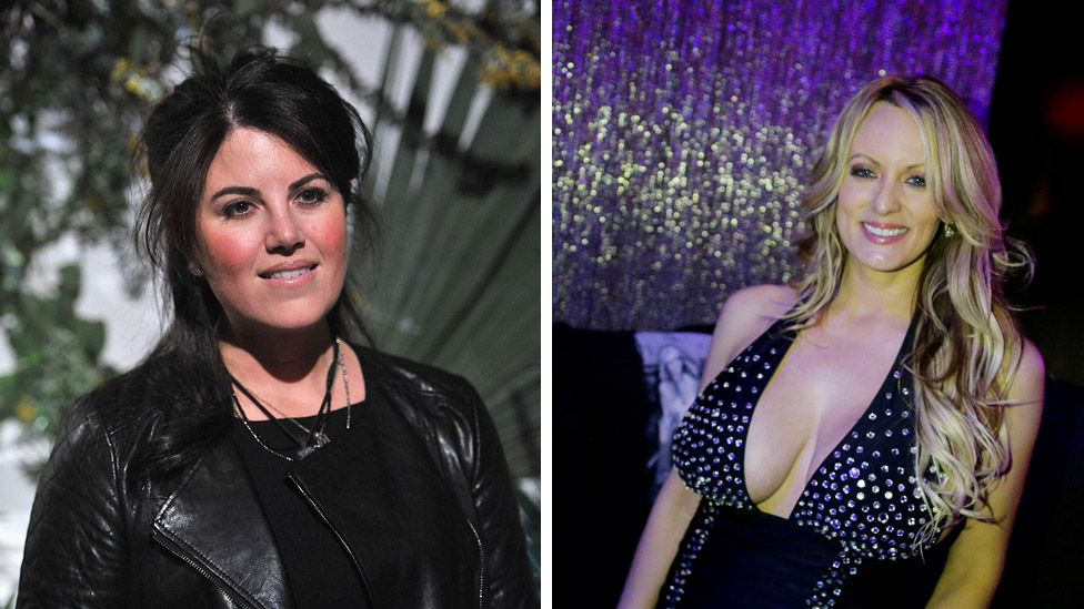 Monica Lewinsky and Stormy Daniels: Political scandals across two eras