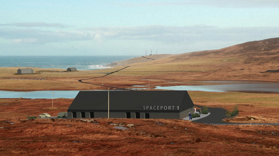 Artist's impression of Spaceport 1
