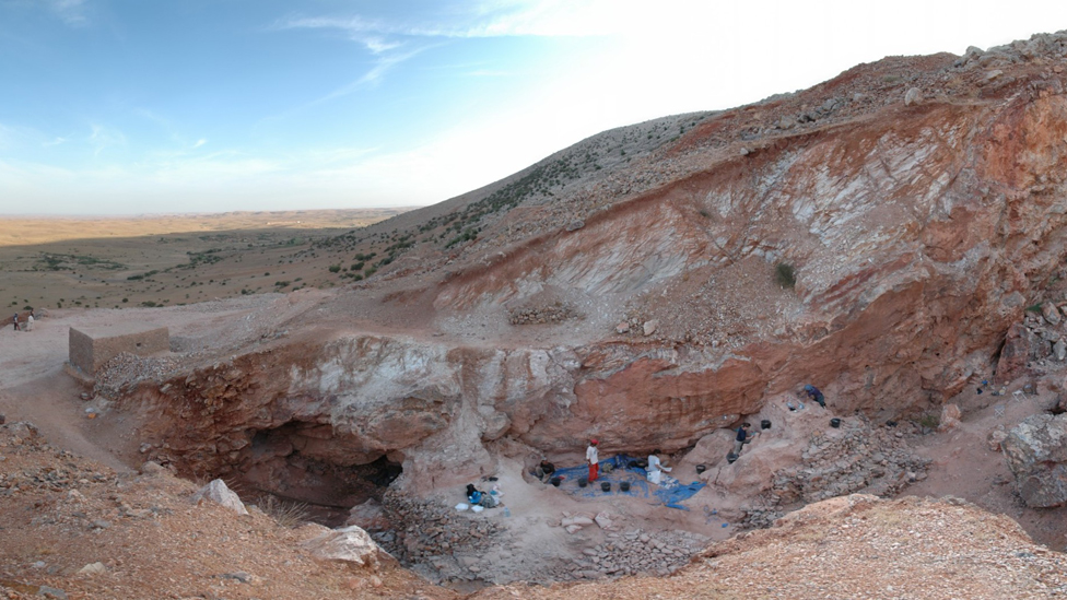 View looking south of the Jebel Irhoud (Morocco) site