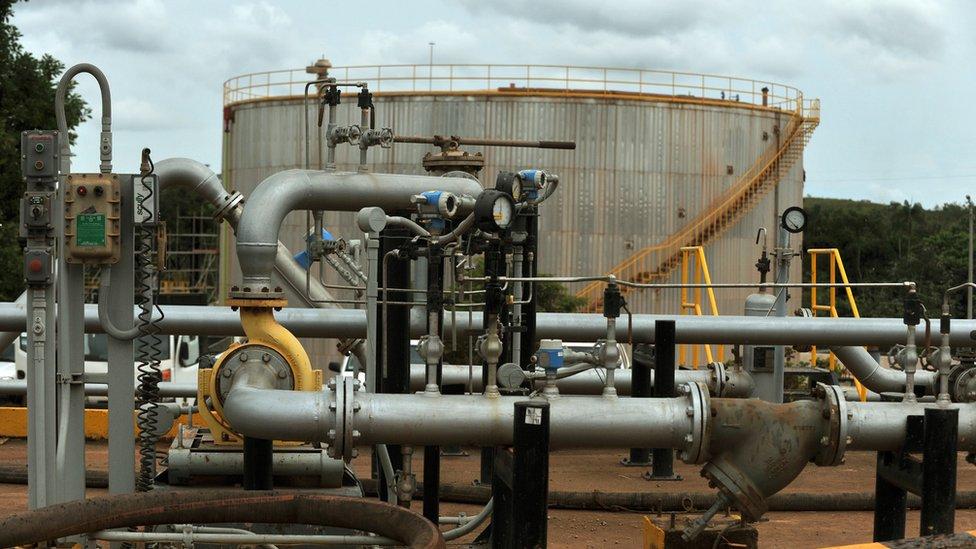 Producción de petróleo en Colombia.