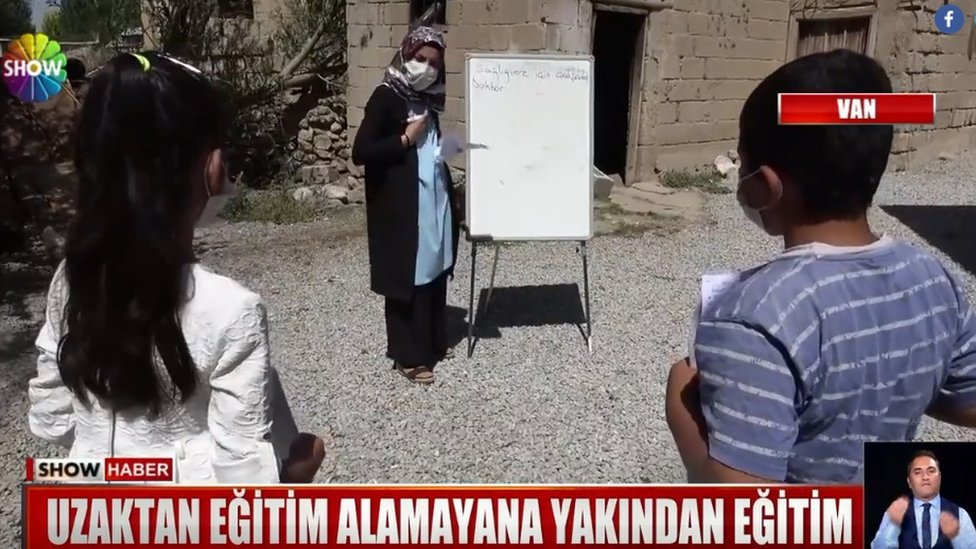 Turkish Teacher Goes Door To Door For Pandemic Pupils Bbc News