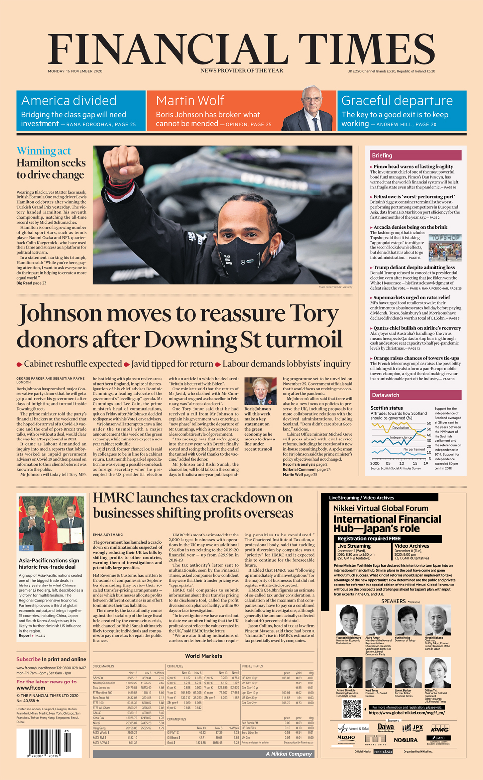 Newspaper headlines: 'No 10 reset in disarray' as PM self-isolates thumbnail