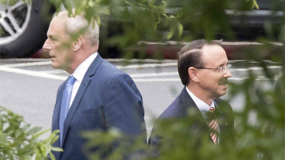 Rod Rosenstein: Russia probe chief set for Trump showdown