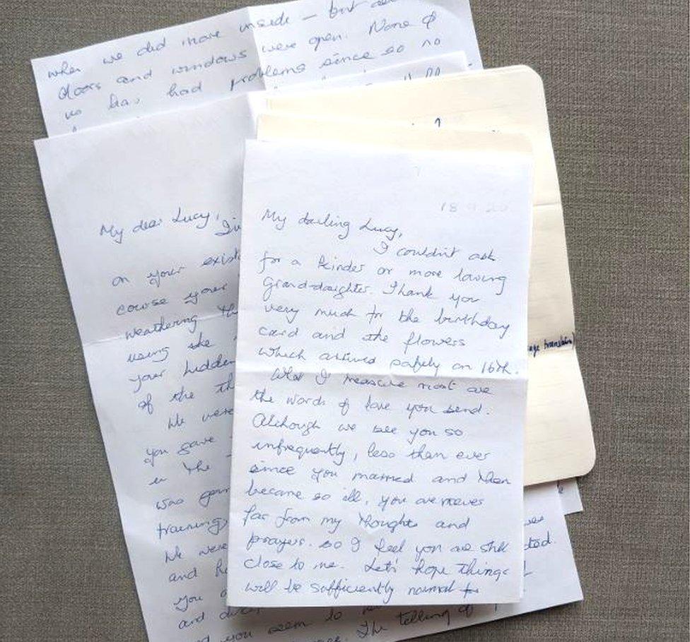 I M Sending My Gran Some Love In An Envelope Bbc News