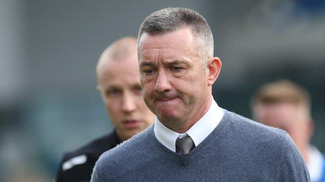 Eddie Patterson was sacked as manager of Glentoran