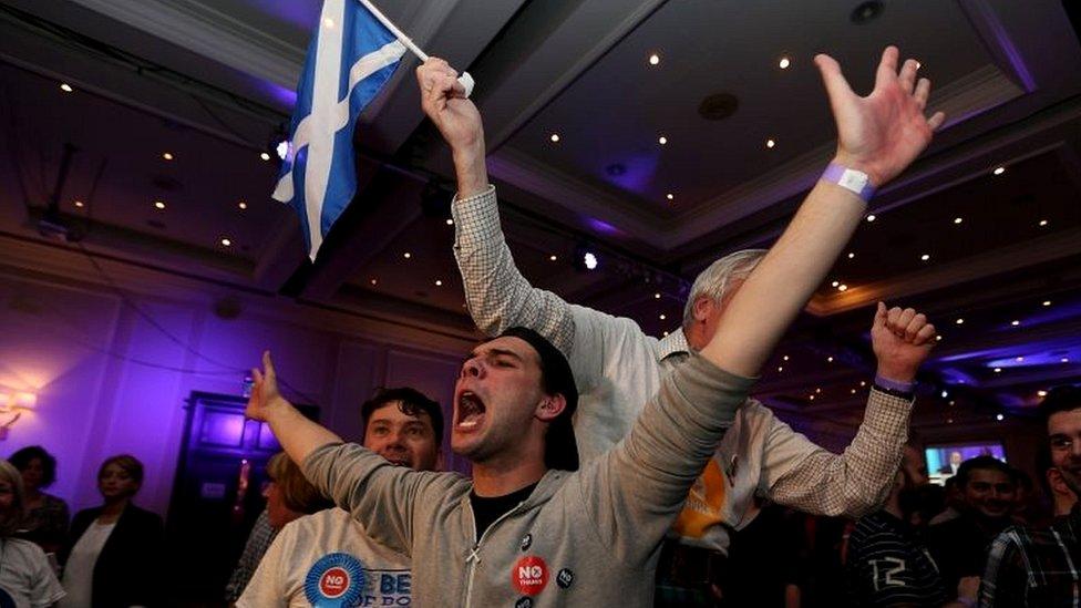 No campaigners celebrate