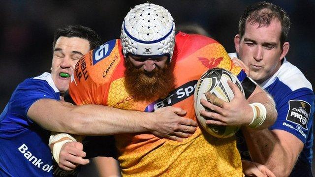 Jake Ball takes on Leinster