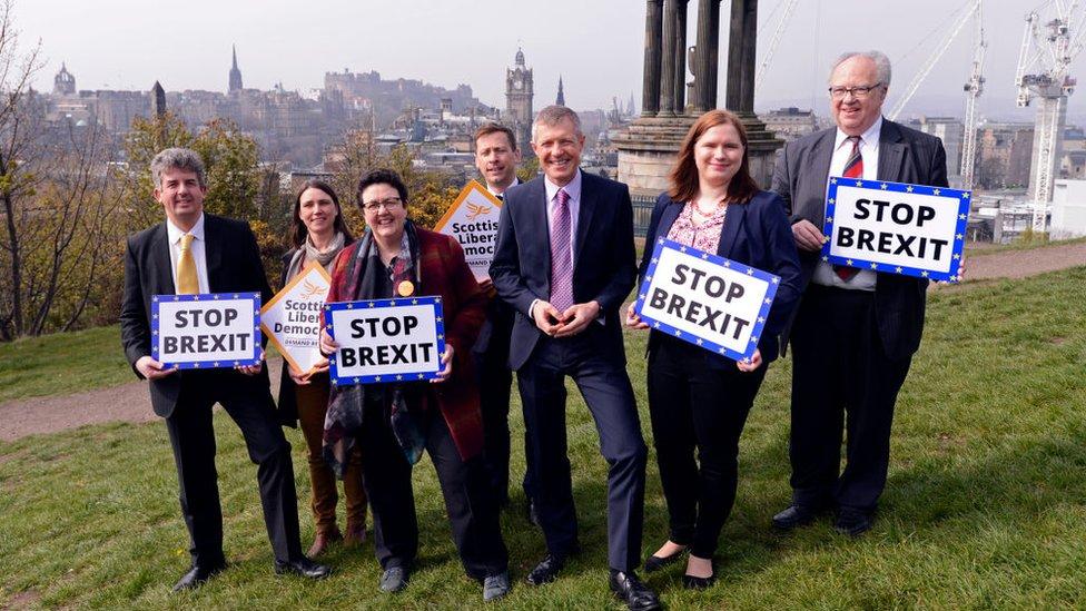Scottish Lib Dem candidates with Willie Rennie