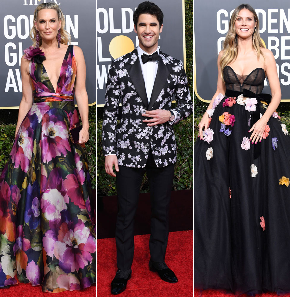Molly Sims, Darren Criss and Heidi Klum