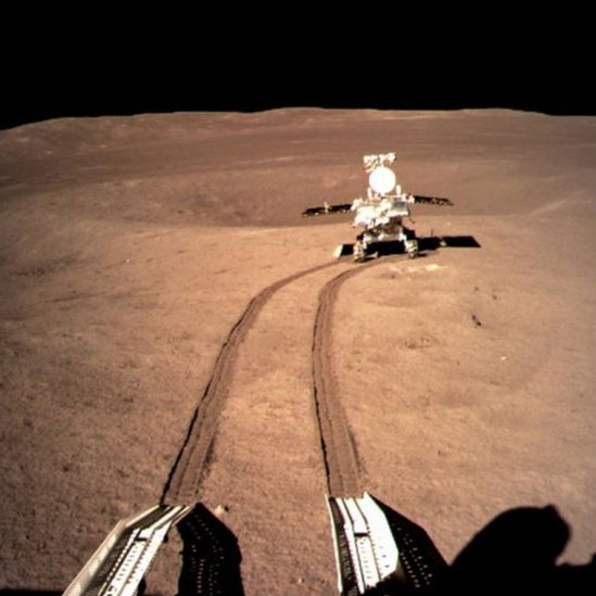 Rover de la misión Chang'e-4 en el lado oculto de la Luna