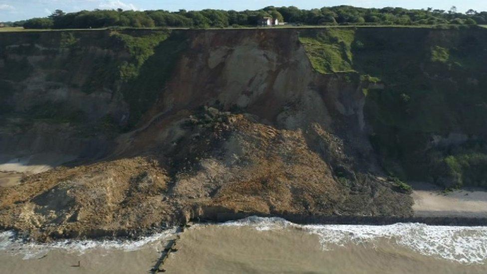 Norfolk cliff-top school's landslide safety fears